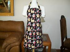 Cute Chocolate Valentine Donut Pink Hearts Apron with Pockets