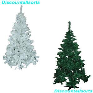 5ft-amp-6-piedi-alberi-di-Natale-Verde-amp-Bianco-Aspetto-Naturale