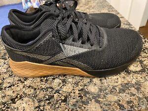 Reebok-Crossfit-Nano-9-Athletic-Training-Shoes-Black-Grey-Gum-Men-039-s-Size-10