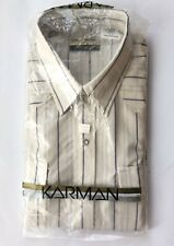 Vtg Karman Pearl Snap Western Shirt Size 16 12 35 Gold Collection Rockabilly