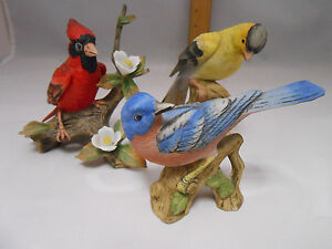 Image Is Loading Vintage Collection Of 3 Lefton Bird Figurines Blue