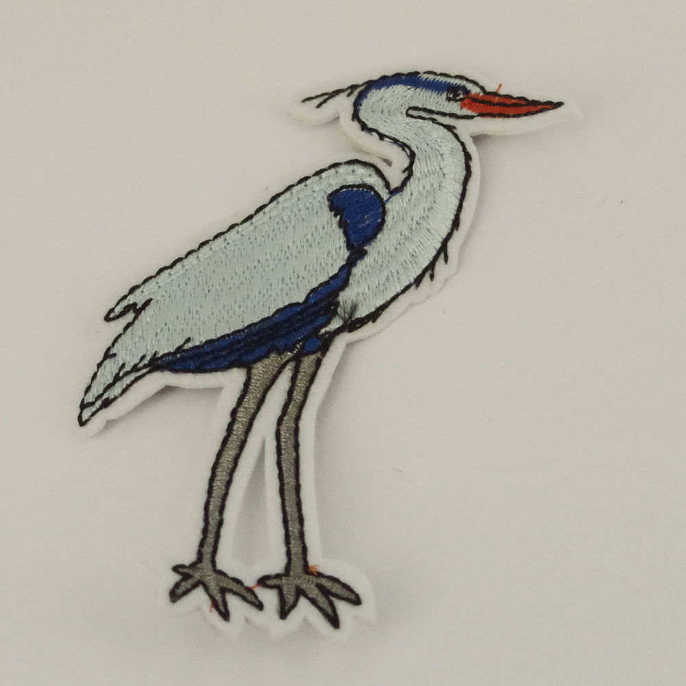 Gold Glitter Heron Bird Flying patch Sew on Patch Bags Jeans Clothes P57
