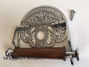 Vintage-Toilet-Roll-Holder-Chrome-Victorian-Unusual-Novelty-Waterloo-Silver-Old