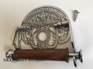 Vintage Toilet Roll Holder Chrome Victorian Unusual Novelty Waterloo Silver Old