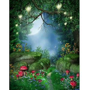 Fiaba-World-Foresta-Verde-Fotografia-Sfondo-Fondale-Panno-Sfondo-Foto-Puntelli