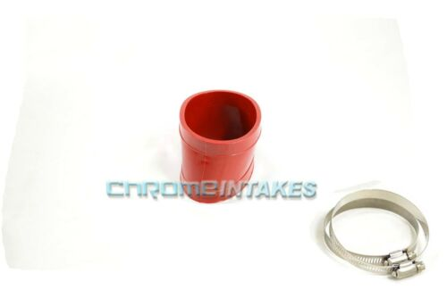 """RED 4/""""-4.5/"""" AIR INTAKE//PIPING RUBBER REDUCER COUPLER FOR DODGE//JEEP"""