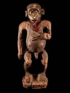 Statue-der-Bulu-Kamerun-maennlich