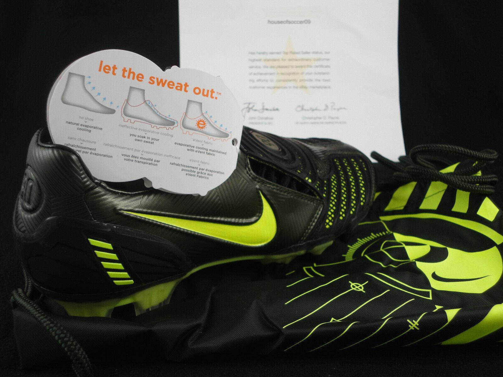 Nike totale vendita 90 laser ii fg, vendita totale al dettaglio 190.00 nero neon sz 6.5, per un totale di 90, 2008 - 84d850