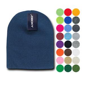 b58035fc2 Details about 1 Dozen Decky Beanies Uncuffed Short Knit Caps Hats Ski  Wholesale Lot