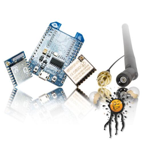 NodeMCU long distance Set ESP-07 ESP-07S CH340 USB TTL Konverter 6dbi Antenne