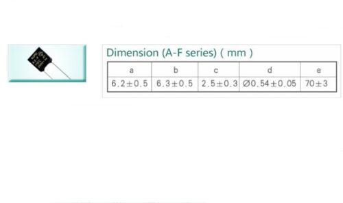 5Pcs New AUPO Thermal Fuse Cutoff TF 125℃ 250V 2A A3-F