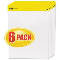Post-it Easel Pads Self Stick Easel Pads 25 X 30 White 6 30 Sheet Pads/carton on sale