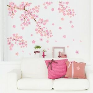 Details About Cherry Flower Blossom Tree Branch Wall Sticker Home Decor Vinyl Art Decal Ymz