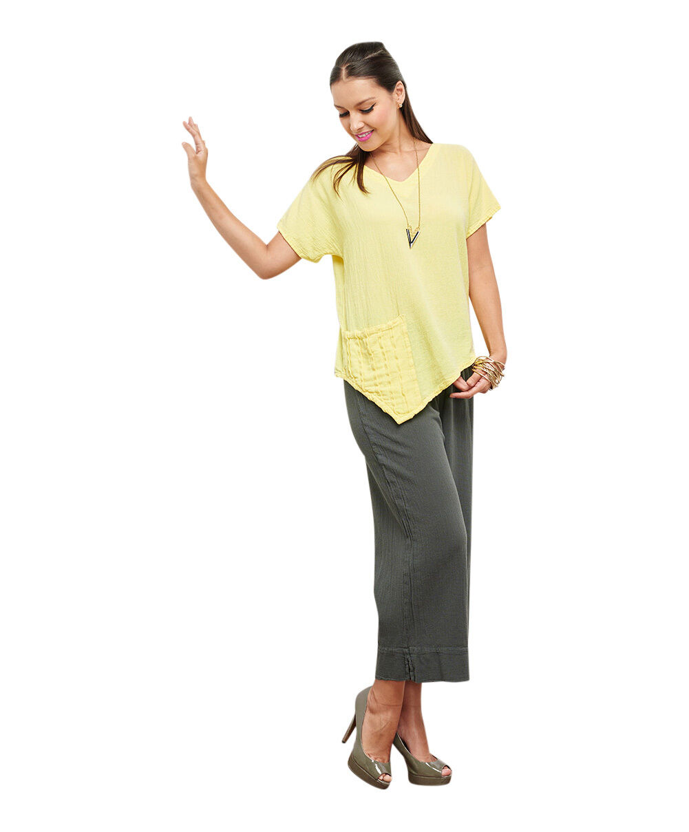 Oh My Gauze Polly Blouse Lagenlook Tunic Top 100% Cotton