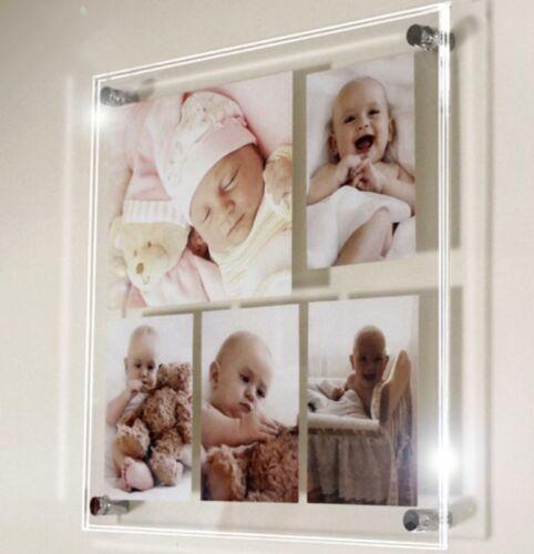 """Multi photo cadre photo 8x10/""""//6x4//10x8 /& 4x6/"""" toutes les couleurs Cheshire Acrylique"""