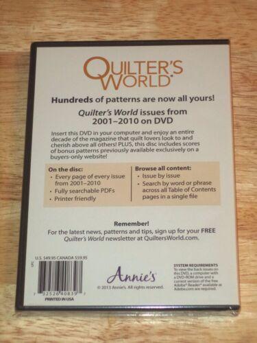 THE QUILTER/'S WORLD /& Just Cross Stitch DVDs Pick Sampler /& Antique Needlework