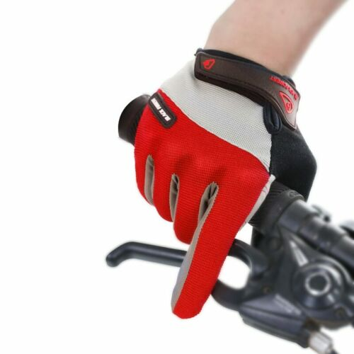 Outdoor Men/'s Full Finger Cycling Gloves Road Mountain Bike Long Finger Guantes