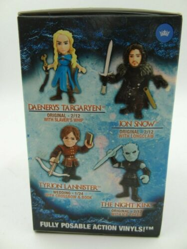 """ACTION VINYLS HBO  GAME OF THRONES 2.5/"""" ACTION FIGURE JON SNOW WITH LONGCLAW"""