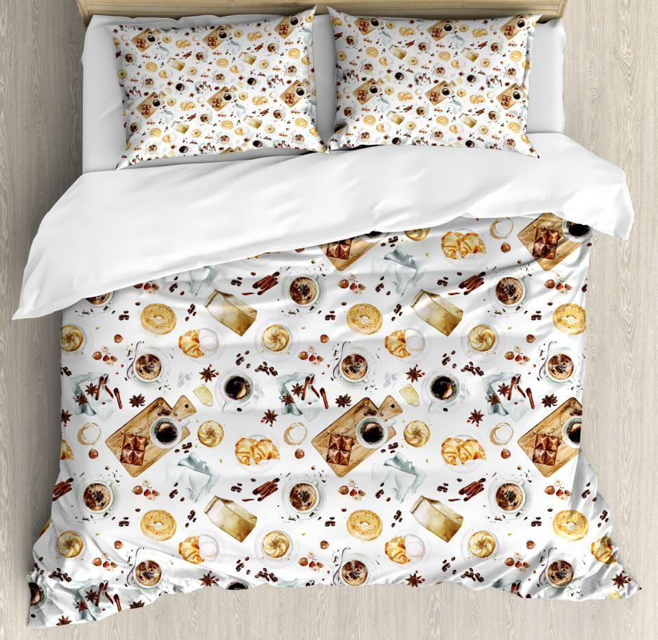 Kitchen Theme Duvet Cover Set Twin Queen King Größes with Pillow Shams
