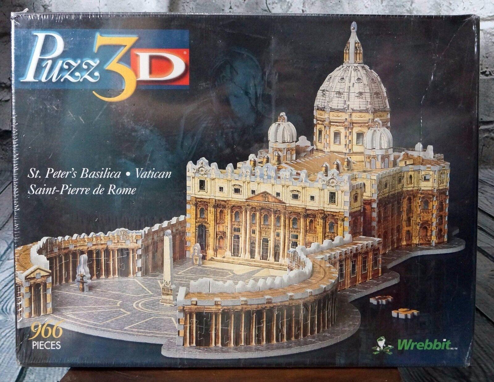 S t Peter s Basilica - Vatikanen, Rom, 966, 3D -pussel skapad av Wrebit