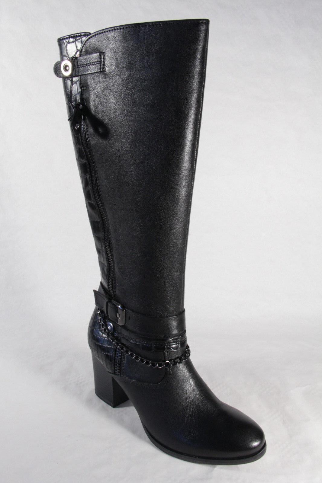 Marco Boots Tozzi 25518 Stiefel, Stiefelette, Boots Marco Echtleder schwarz  NEU 9ce76f