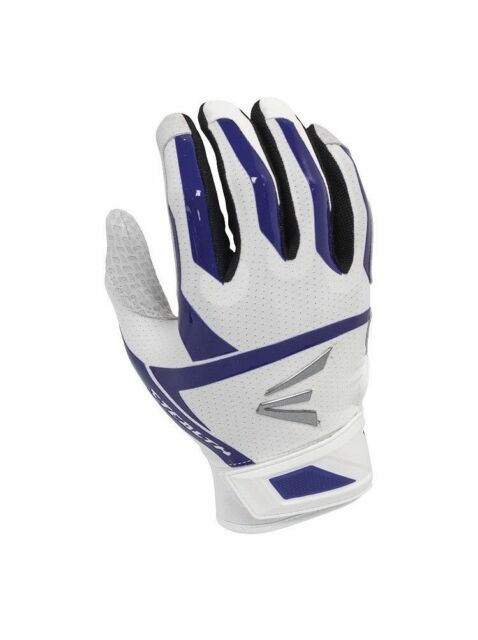 NEW Womens Easton Stealth Fastpitch Batting Gloves White Purple Sz Large 37.5