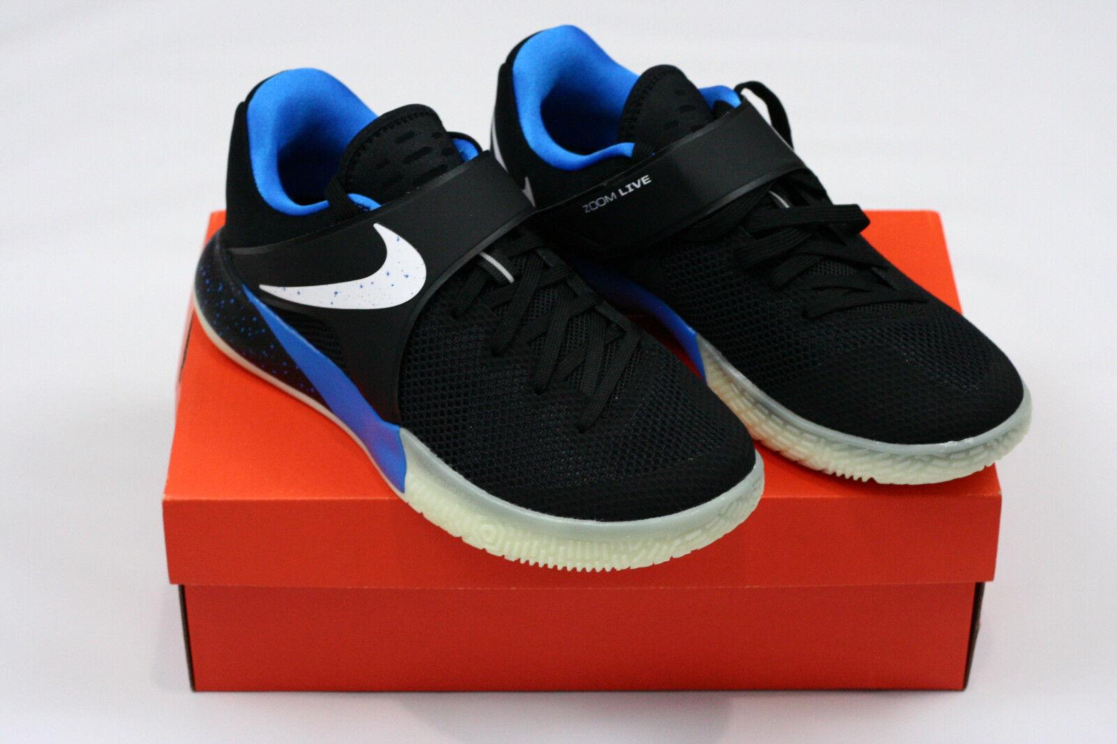 Nike Zoom Live PE ZACH LAVINE Men's shoes Size 8 Black blueee White 910573-014