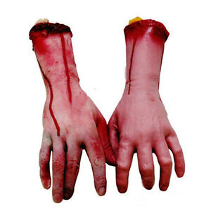 Realistic-Hands-Terror-Bloody-Fake-Body-Parts-Severed-Arm-Halloween-Party-Decor