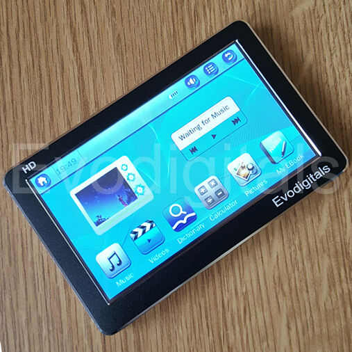 """EVO 80GB 4.3"""" TOUCH SCREEN MP5 MP4 MP3 PLAYER DIRECT PLAY MUSIC + VIDEOS TV OUT"""
