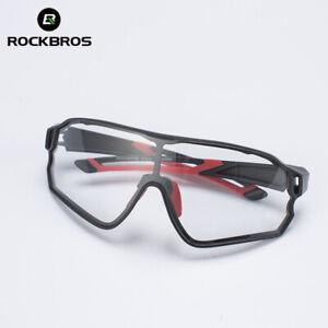 ROCKBROS Photochromic Rimless Sunglasses Eyewear UV400 Goggles Black Red