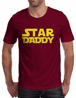 """T-shirt UOMO """"Star Daddy"""" maglietta 100% cotone idea regalo - BORDEAUX"""