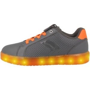 Junior Zapatillas B Zapatos Kommodor Low Geox Naranja J Cut Gris q0R1xRt