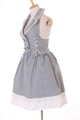 JSK-30-1 Grau Rockabilly Retro Vintage Gothic Lolita Westen-Kleid Cosplay Kostüm