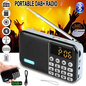 Tragbares DAB + FM Radio mit Batterie + USB Cable -Mini Digital Radio MP3 Player