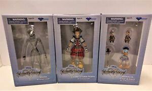 NEW Kingdom Hearts Disney Diamond Select DUSK Sora Donald Chip & Dale SET OF 3