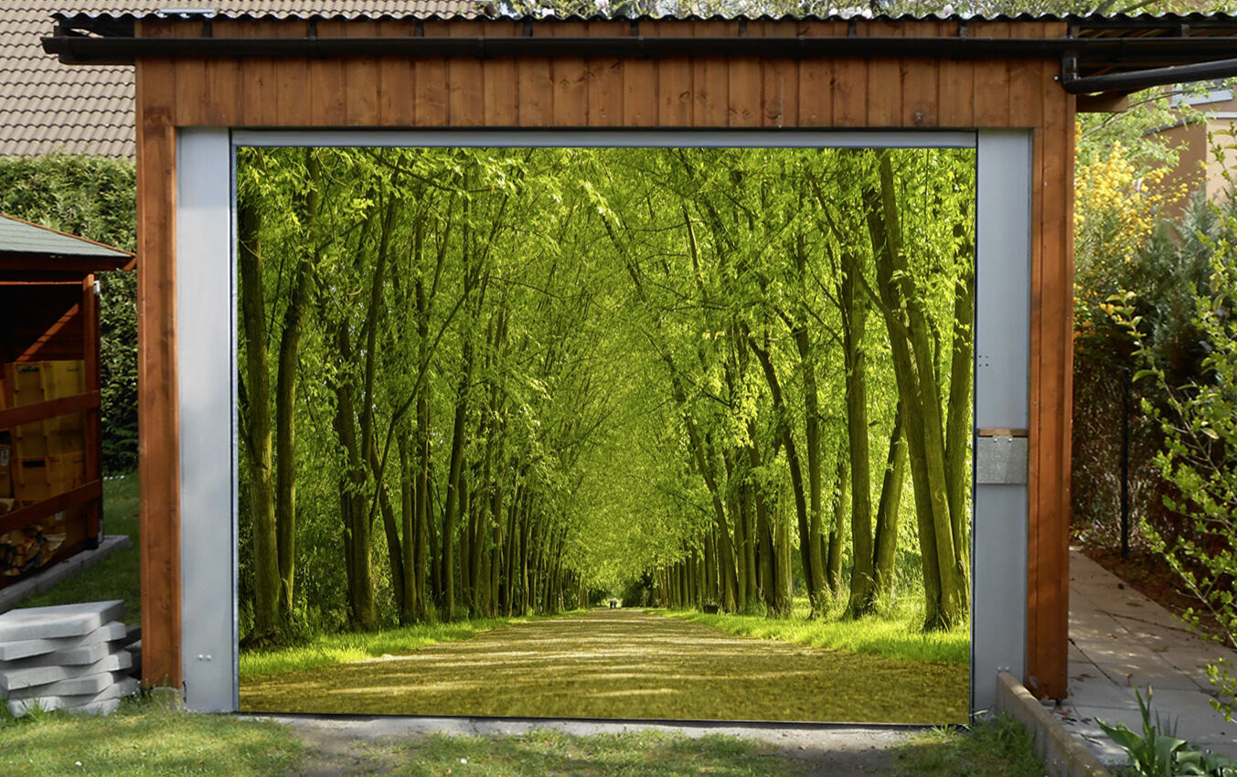 3D Tall wide woods Garage Door Murals Wall Print Decal Wall Deco AJ WALLPAPER UK