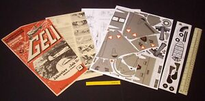 Jakovlev Jak 11 Jet Bomber. Vintage GELI Austria Cut-Out Card Model Kit