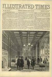 1858-Division-Lobby-House-Of-Commons-India-Question-Revolt-Turkey-Montenegro