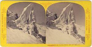 Tairraz-Grands-Moulets-Chamonix-Mont-Blanc-France-Photo-Stereo-Vintage-Albumine