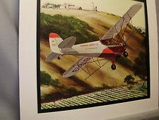 Piper Cub J 3 Monoplane 1976  Exhibit Color art illustrated Barnstormers