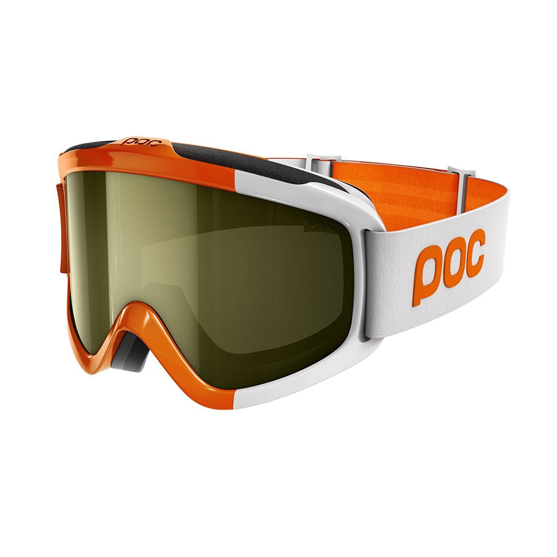 POC Skibrille Iris Comp Zink Orange Smokey Gelb + Transparent Gr. S