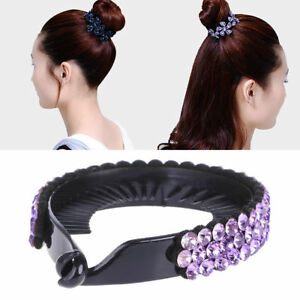 Women-039-s-Hair-Clip-Rhinestone-Hairpin-Claws-Ponytail-Bun-Holder-Accessory-Tool