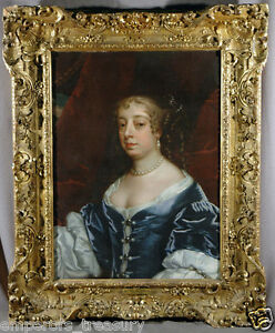 17th Century Sir Peter Lely British Oil Painting Portrait of Lady Middleton