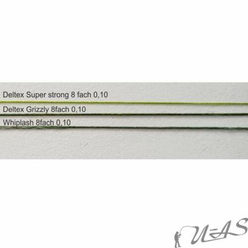 DELTEX GRIZZLY Grün 0.14mm 18,10kg 1000M 4 fach Geflochtene Hi Tech Angelschnur