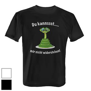 Herren T-Shirt Fun Shirt Spruch Schlange Lustig Du kannst mir nicht widerstehen