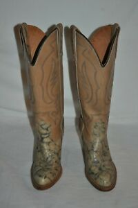cd5b1bac833 Details about vintage MISS CAPEZIO 80'S WOMENS 6 LEATHER STACKED HEEL  western BOOTS sexy Boho