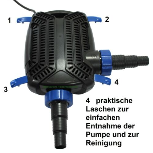 4,2m Bachlaufpumpe 40W max ECO Profi-Teich-und Aquariumfilterpumpe 6000 L//h