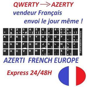 2x-QWERTY-vers-AZERTY-autocollants-pour-clavier-en-Francais