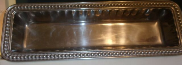 Wilton Armetale Flutes And Pearls Rectangular Cracker Serving Tray 12 5 Inch For Sale Online Ebay