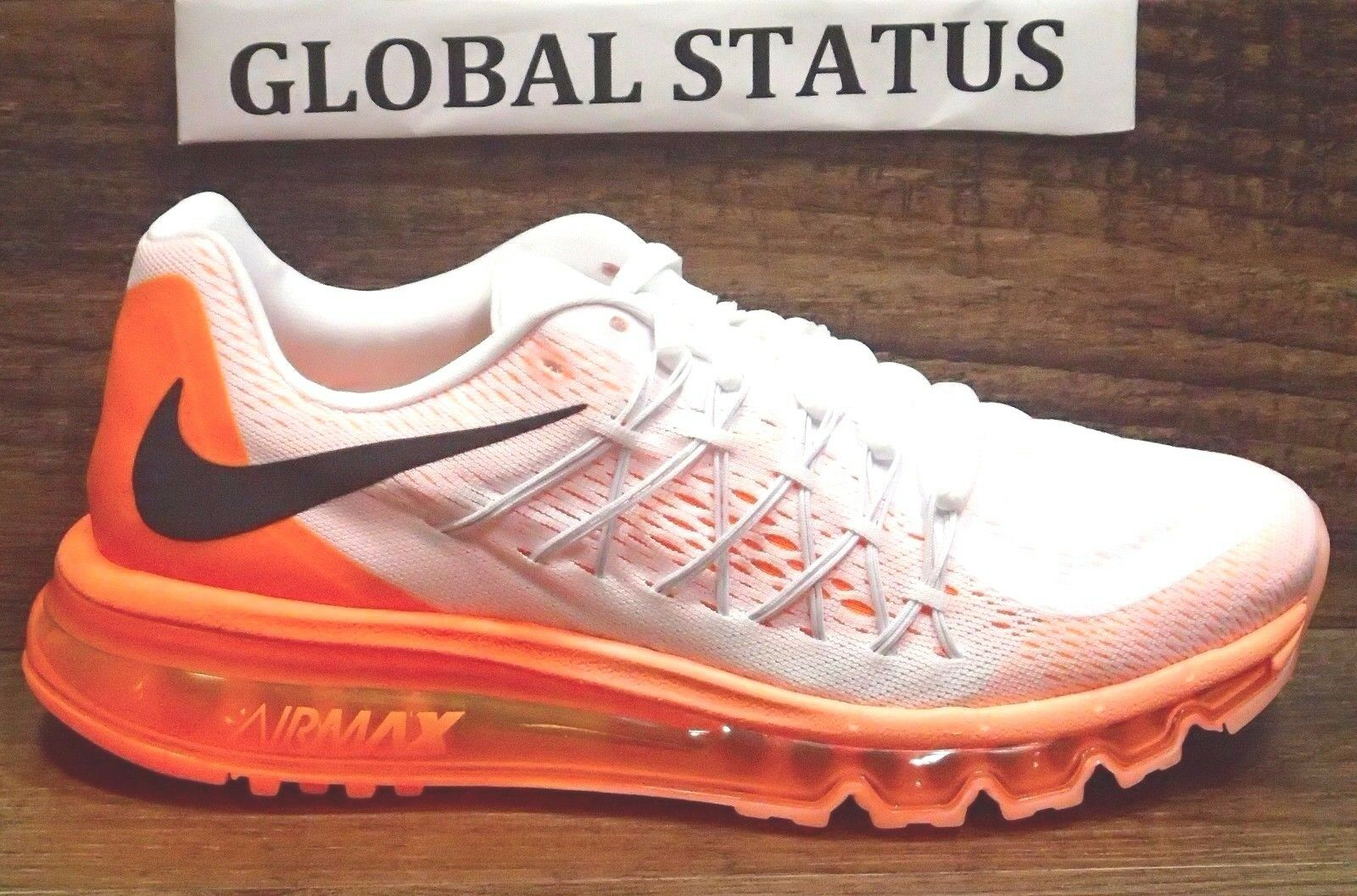 NIKE WOMENS AIR MAX 2015 WHITE BRIGHT CITRUS RUNNING SHOES 698903 102 SIZE 8